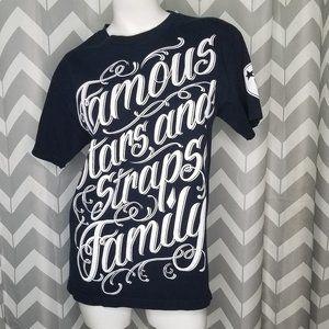 FAMOUS STARS & STRAPS black tshirt